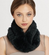 EXCLUSIVELY AT SAKS. Luxurious rabbit fur in a chic infinity loop envelops the neck in warmth.Dyed, sheared rabbit fur26 X 7.5 loopDry cleanImportedFur origin: China