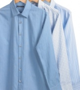 Play-up pattern in your business wardrobe with one of these button-front shirts from Van Heusen.