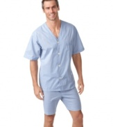 Stay cool in bed when the warm weather hits with this light weight pajama set from Club Room.