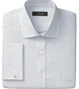 Perennial classic. With sleek stripes and French cuffs, this Tasso Elba dress shirt will be a favorite for years to come.