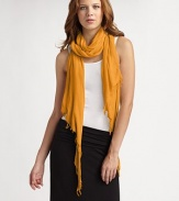 Throw on this airy Mako cotton scarf for a distinctive, effortless look.CottonHand washImported