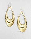 From the Miss Havisham Collection. Simple, sensuous open teardrops are oh-so-slightly asymmetrical to keep things interesting.Rose goldtoneLength, about 3Width, about 1.25Ear wireMade in USA