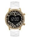A delightfully quirky take on the digital watch design, by Betsey Johnson.