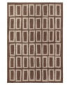Abstract rectangles in soft neutral tones create a casual and carefree design in the Tribecca area rug from Sphinx. Machine woven from soft and durable polypropylene, this piece is ideal for kids, pets and high traffic areas. (Clearance)