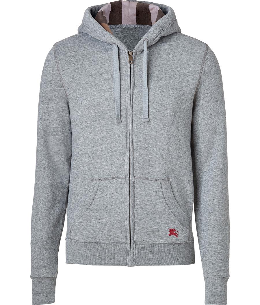 Pale Grey Heather Chester Hoodie Men Activewear Sports